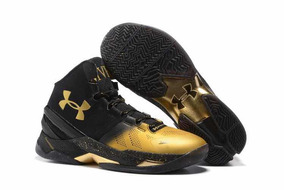 be76f08a8be Tênis Under Armour Curry Back 2 Back Mvp Preto E Dourado 44