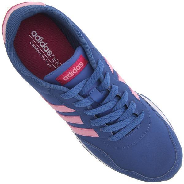 d6222bcc6f Tênis V Jog K Feminino Azul E Rosa adidas Neo - R  239