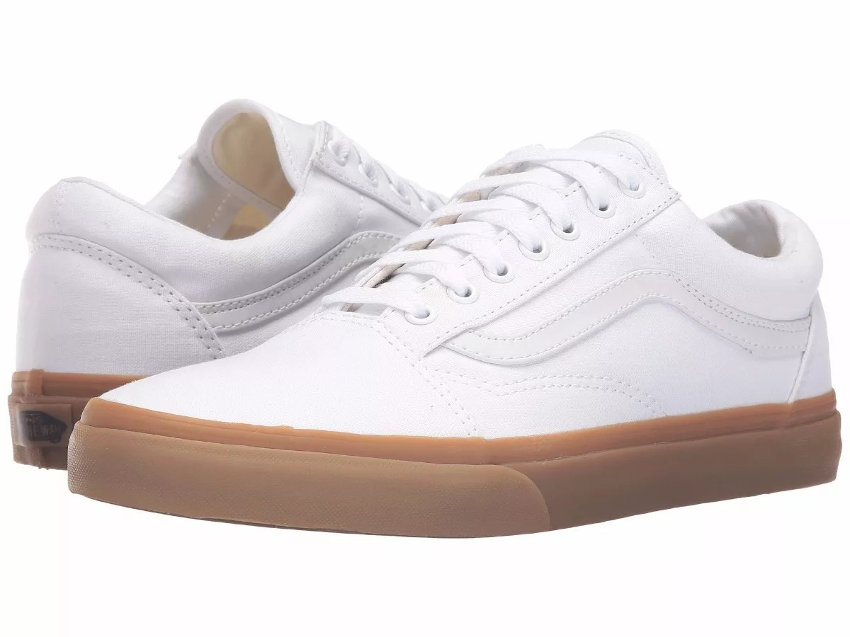 db217a52dee tênis vans old skool canvas gum true white light original. Carregando zoom.