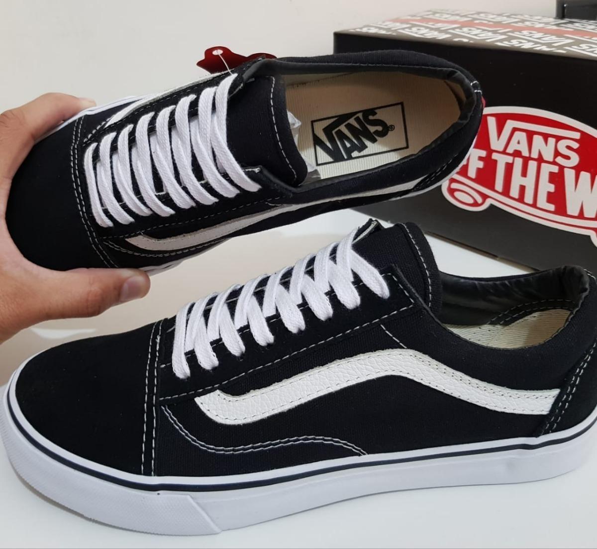 46b173f92e Tênis Vans Old Skool Preto Mas Fem Promoção. - R$ 189,99 em Mercado ...