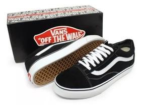Vans Preto E Caramelo Old Skool Sapatos para Masculino