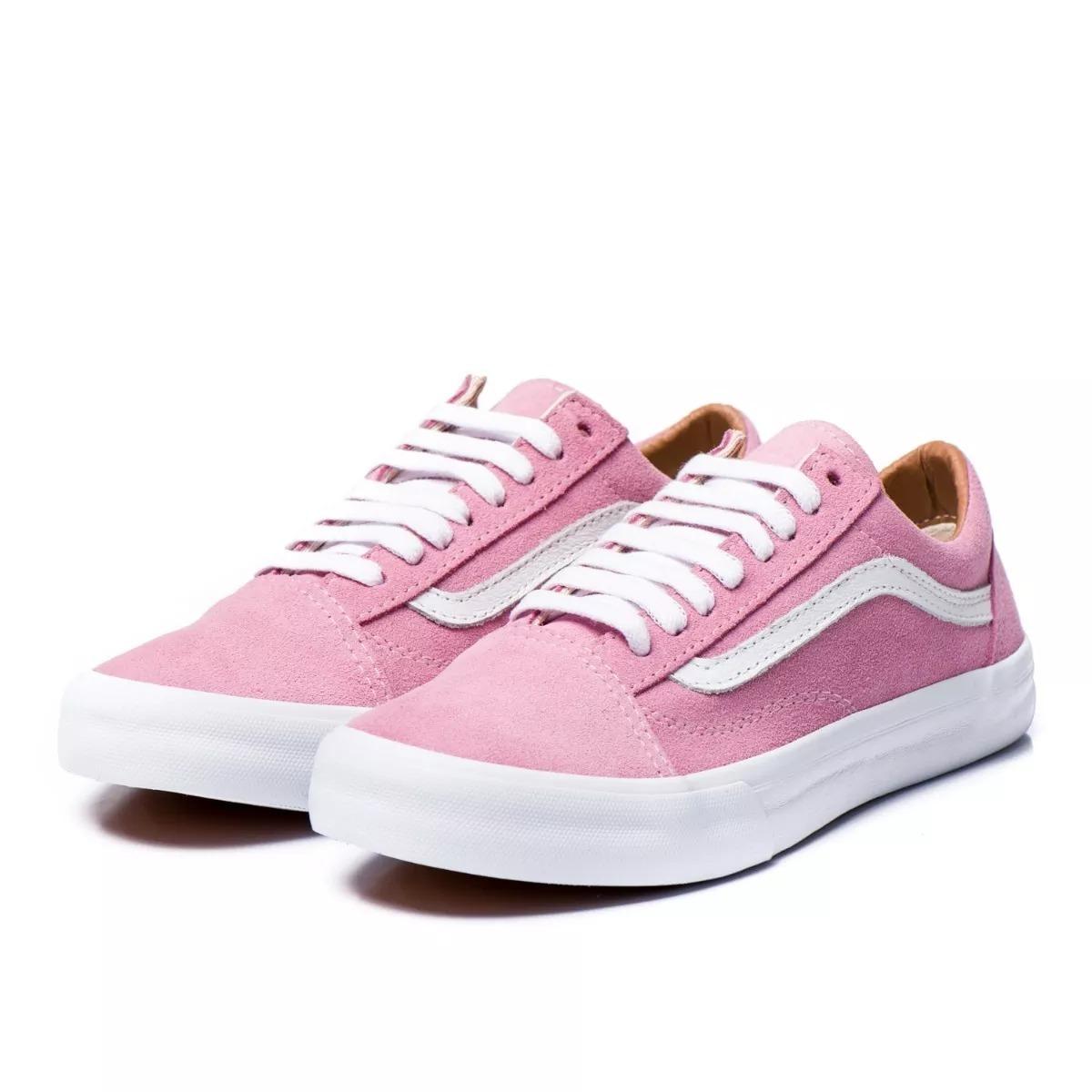 cb27f367d5a tênis vans old skool skate azul e rosa. feminino. original. Carregando zoom.