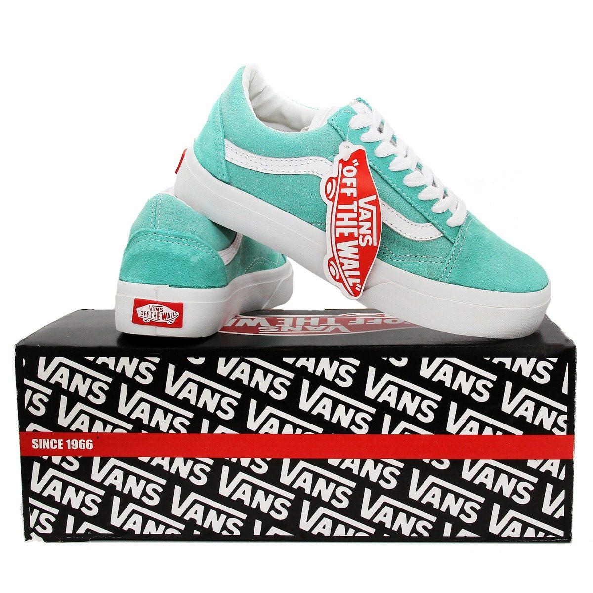 04825e3299 Tênis Vans Old Skool - Verde Água - R$ 149,99 em Mercado Livre