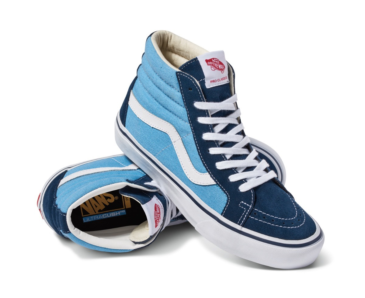 150922c5387 Tênis Vans Sk8 Hi Pro 50th 86 Navy White - Clássico Sneaker - R  398 ...