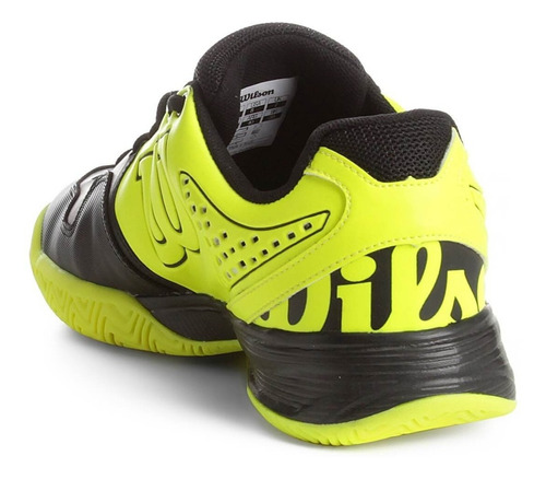 tênis wilson k ultimate preto e amarelo neon
