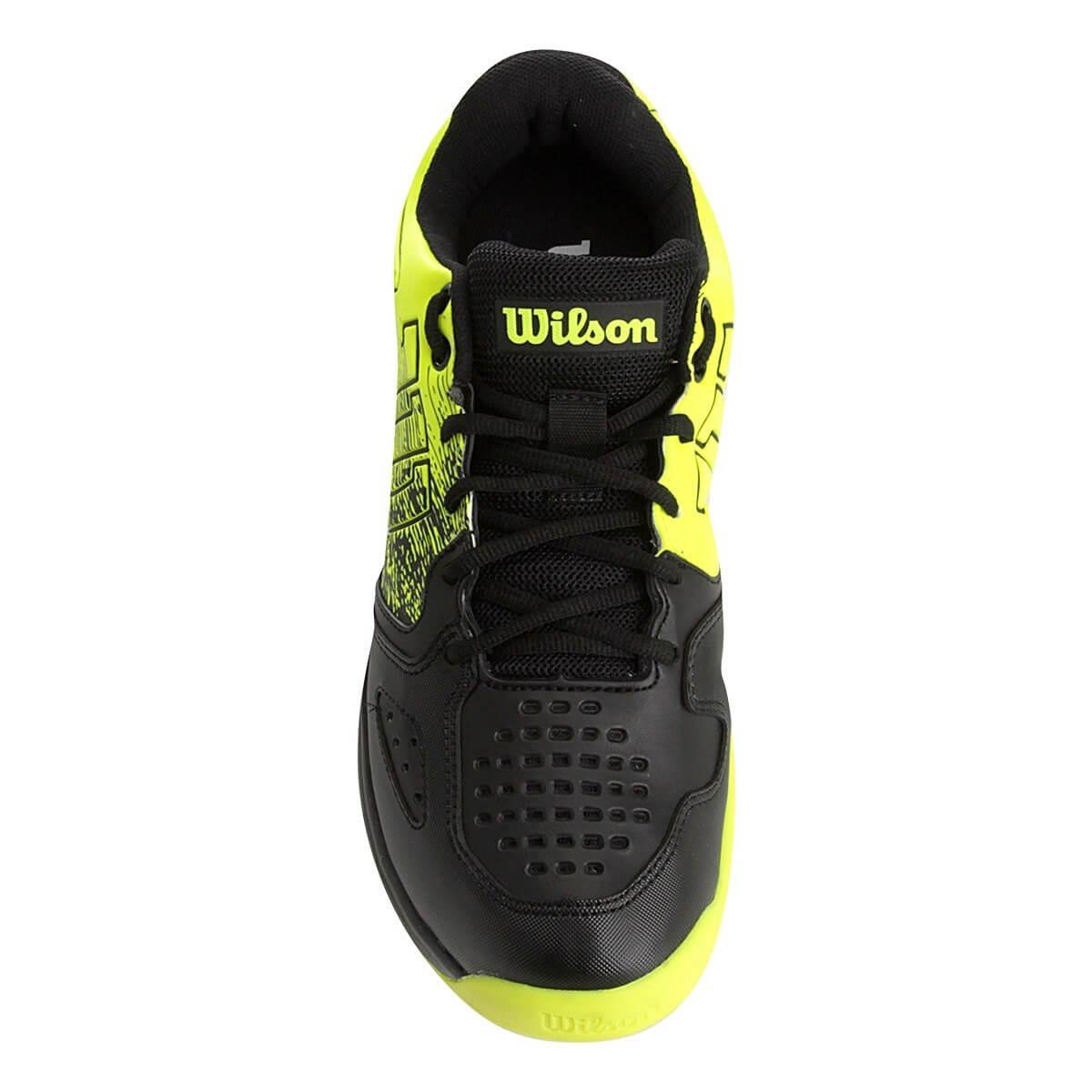 b75bd7f586f tênis wilson k ultimate preto e amarelo neon. Carregando zoom.