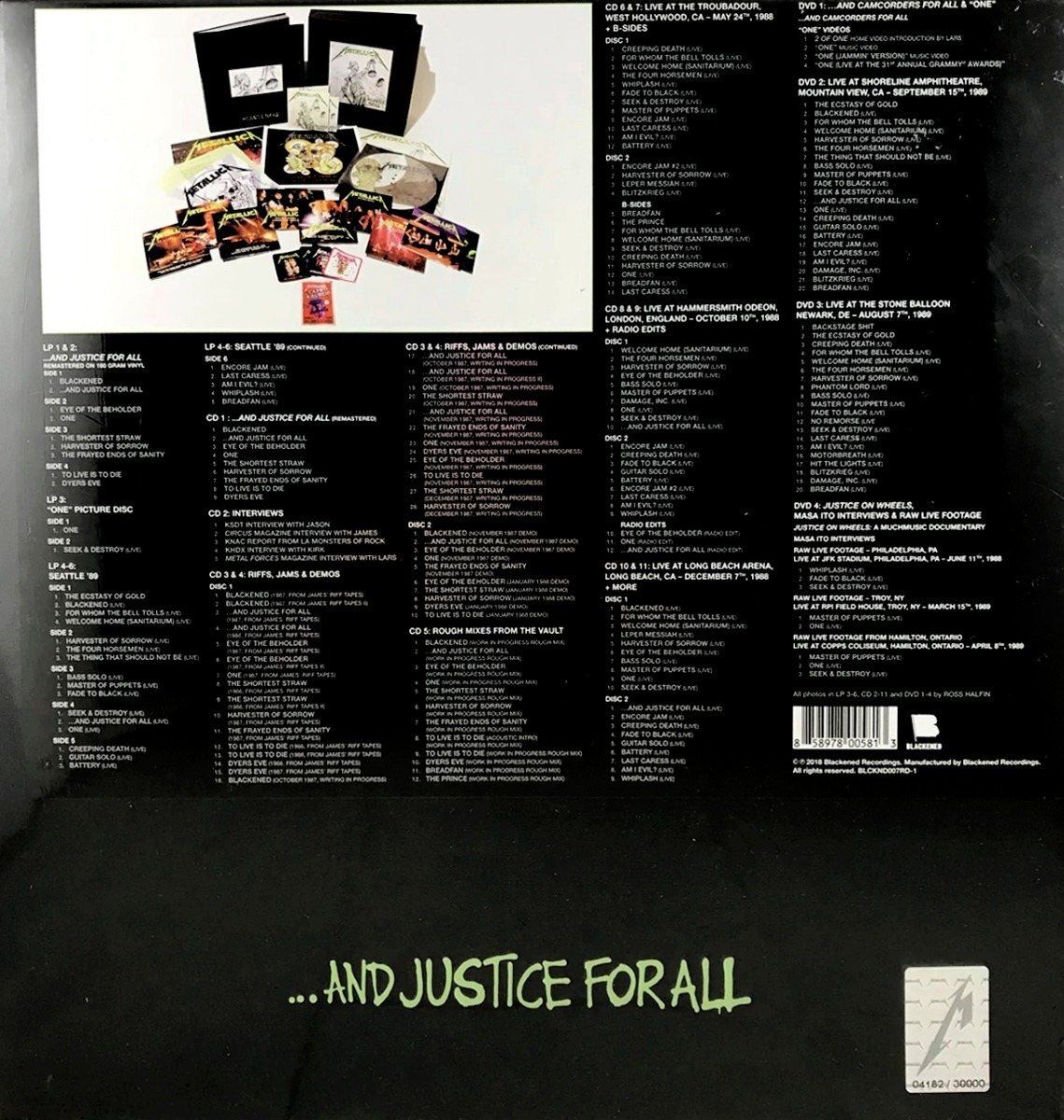Tnms Boxset Metallica    and Justice For All