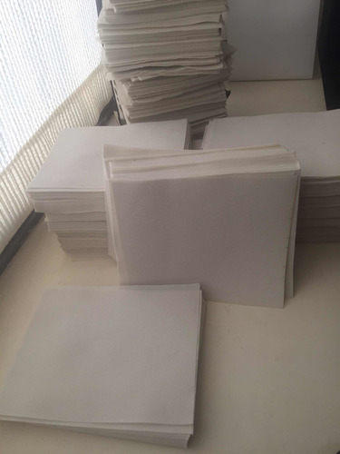 tnt 400 cortes de 23x18.5, 80 gr, 3 pliegues marcados