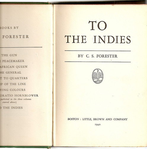to the indies - c. s. forester