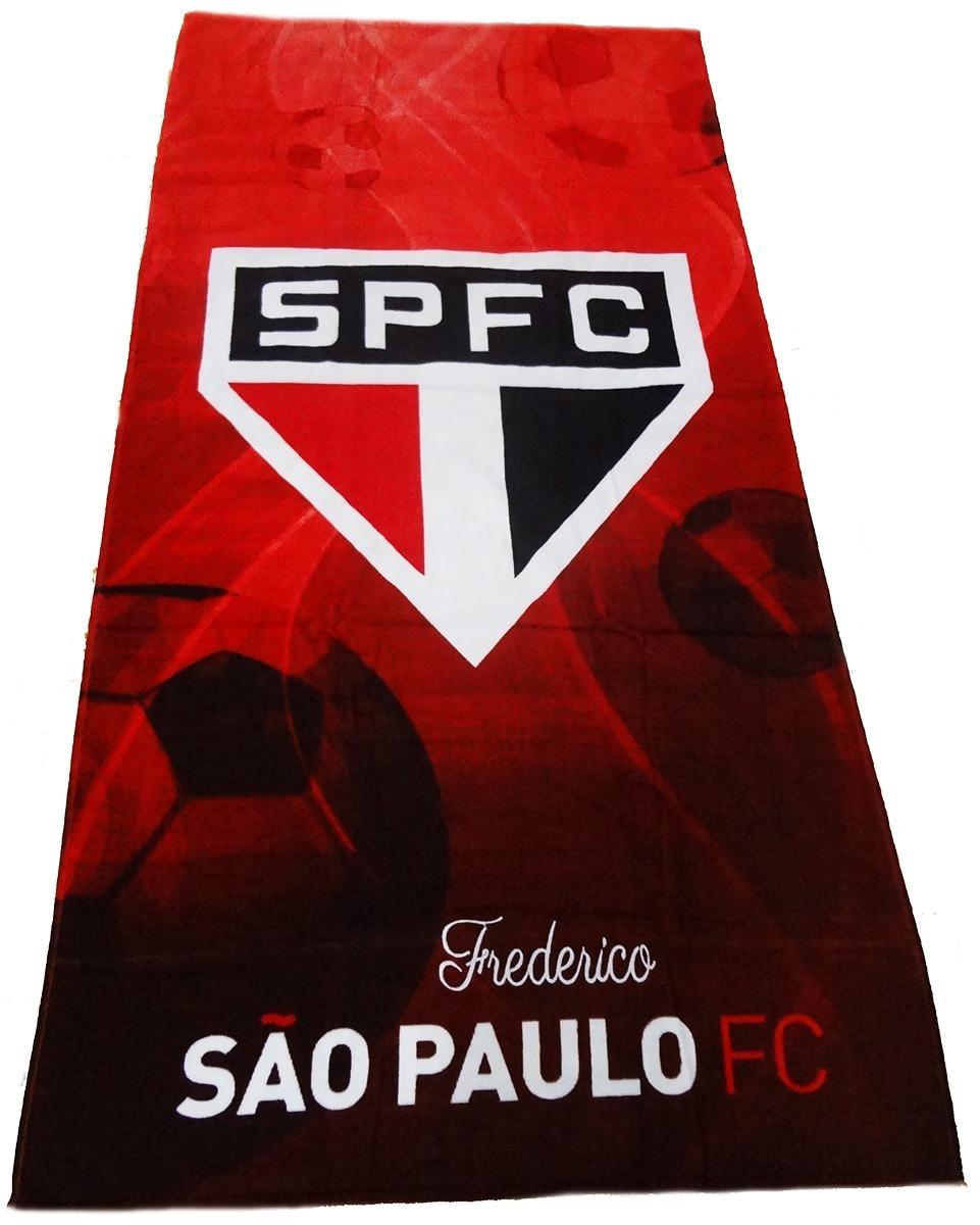 edcc807541 Toalha Aveludada Do São Paulo Oficial Com O Nome Desejado! - R  46 ...