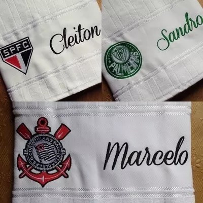 toalha banho times futebol bordada personalizada