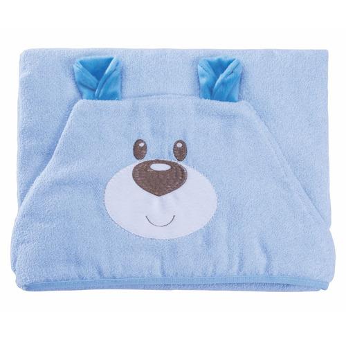 toalha com capuz - 100% algodão - baby joy funny - ursinho a