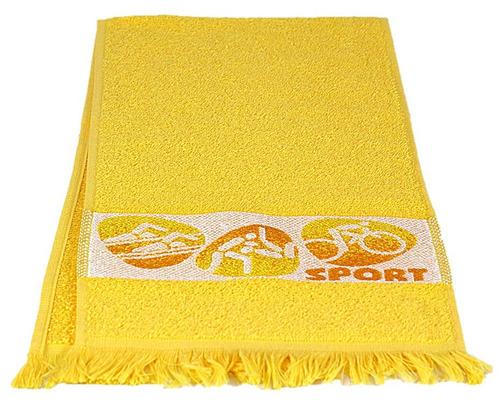 toalha de academia training amarela