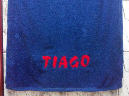 toalha de banho bordada