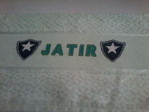 toalha de banho bordada a mão (times de futebol)