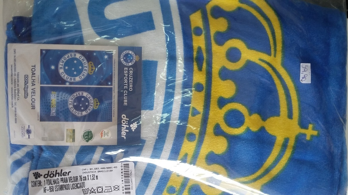 Toalha De Banho Cruzeiro - Dohler - R  42 8f5dd66b51efd