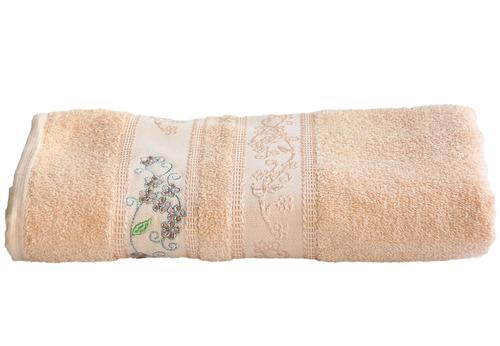 toalha de banho felpuda algodão isabelle salmão