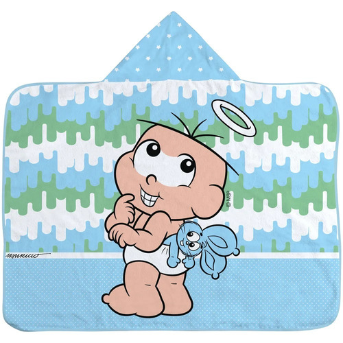 toalha de banho turma da monica estampada localizada masculi