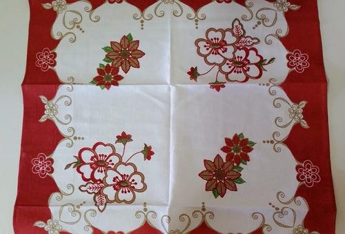 toalha de chá inovare bariloche 72 x 72cm quadrada vermelho