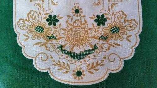 toalha de chá inovare monte carlo 72 x 72cm quadrada verde