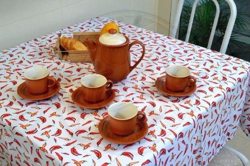 toalha de mesa em oxford tomate quadrada 1,50mx 1,50m
