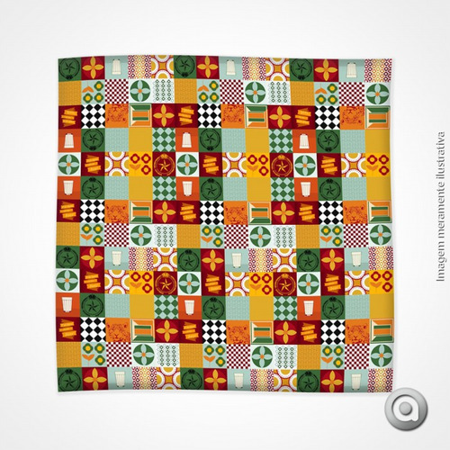 toalha de mesa haus for fun mix botequim 144x144 cm