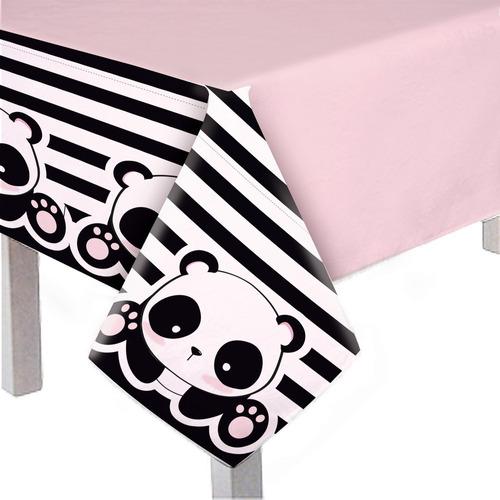 toalha de mesa principal panda 118x180cm dec. festas