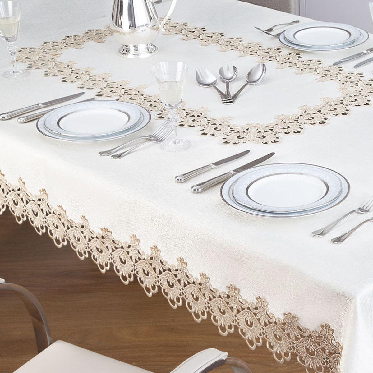 63917e59f7 toalha de mesa rendada retangular veneza branco jolitex. Carregando zoom.