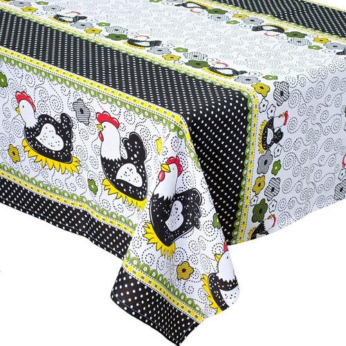toalha de mesa retangular 6 lugares super pratica 2,20x1,45m