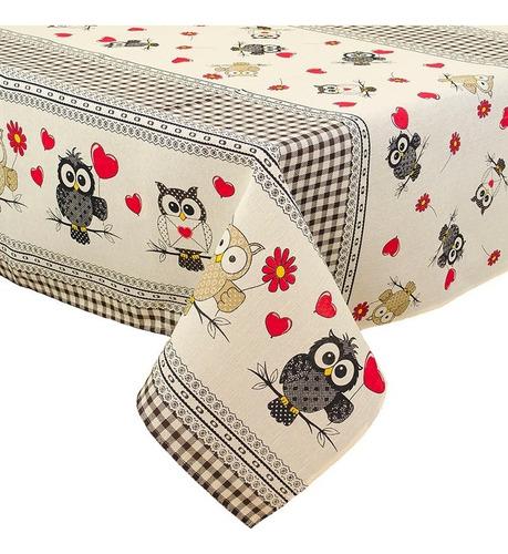 toalha de mesa retangular 6 lugares variadas 2,20x1,45m