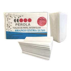 Toalha De Papel Interfolha Extra Luxo Pérola - 5.000 Folhas