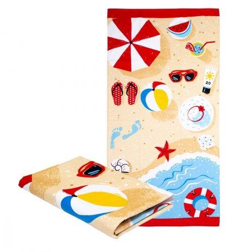 toalha de praia teka estampa praia holiday