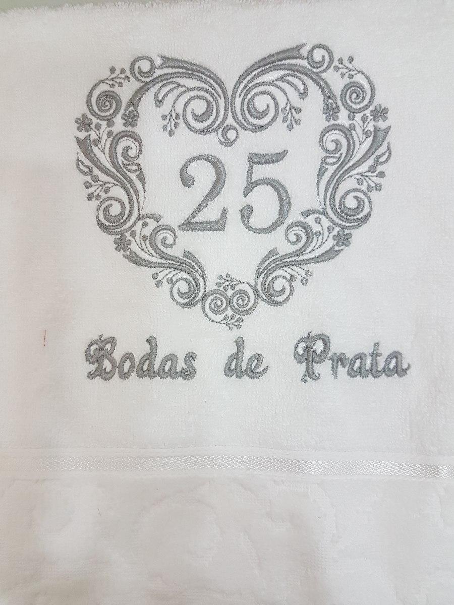 Toalha De Rosto Bordada Bodas De Prata R 6000 Em Mercado Livre