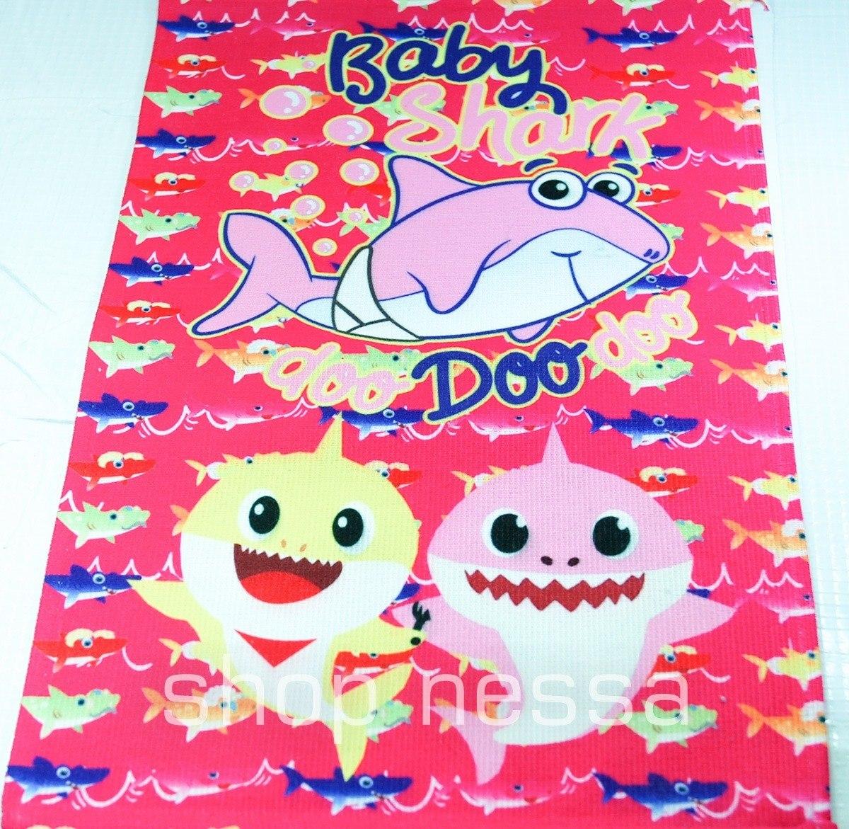 Toalha De Rosto Mao Desenho Infantil Baby Shark Bebe Tubarao R