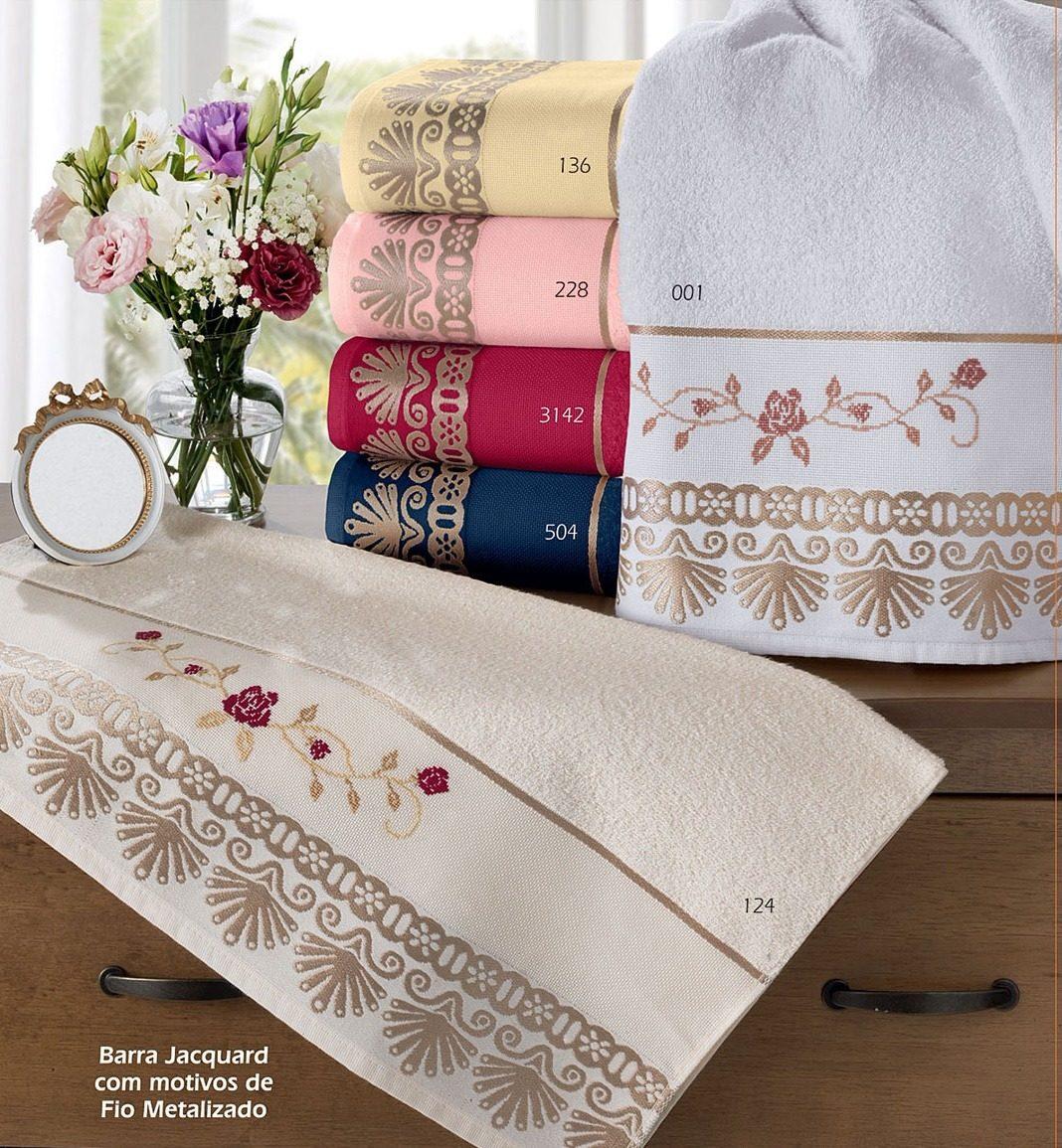 f885fd34ab toalha felpuda barra jacquard p bordar kit 03 banho 03 rosto. Carregando  zoom.