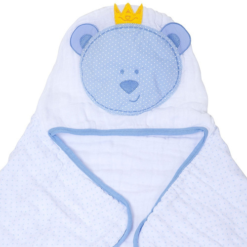 toalha fralda com capuz papi toys