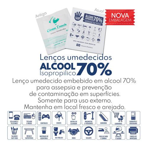 toalha - lenço umedecido alcool gel 70%  c/10unid