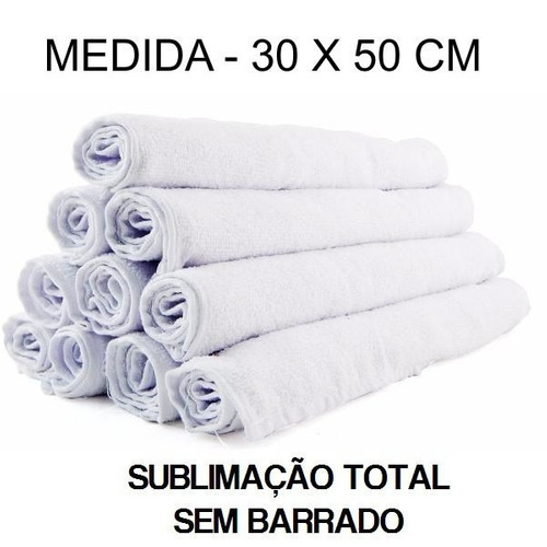 toalha macia para sublimação total - 30 x 50 cm - 24 peças