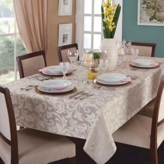 toalha mesa jacquard retangular 6 cadeira