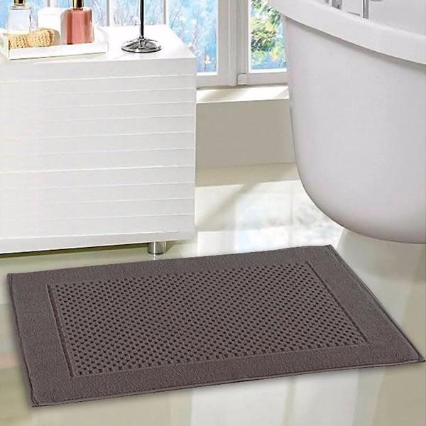 15fd465de8b77 Toalha piso de banheiro tapete algodão felpudo grafite jpg 600x600 Toalha  piso