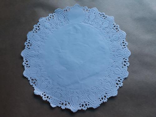 toalha rendada papel mago 25 cm (250) c/100 unids