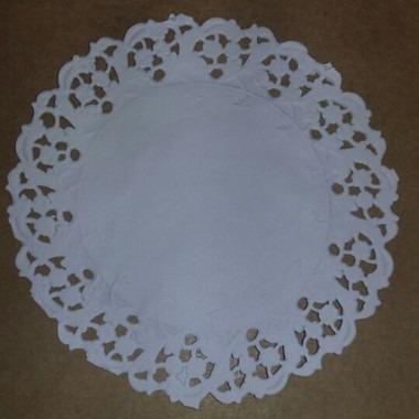 toalha rendada papel mago doilies 13cm (130) c/100 unids