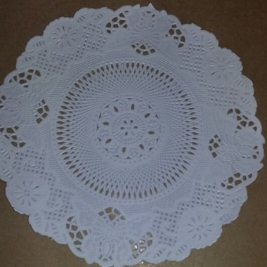 toalha rendada papel mago doilies 18cm (180) c/100 unids