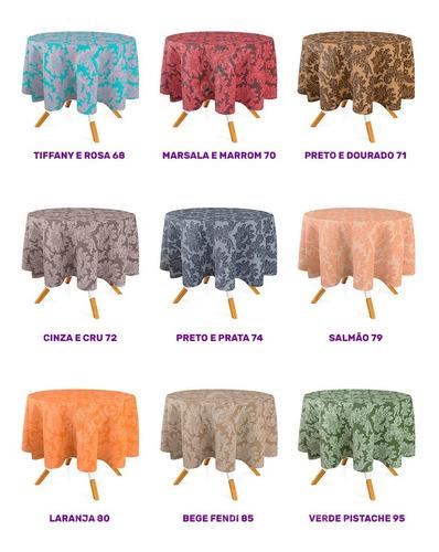 toalhas de mesa em jacquard 2,8m de diâmetro - 22 unidades