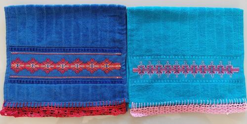 toalhas para lavabo bordadas em  vagonite