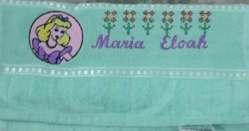 toalhas personalizada- kit com 10 unidades.