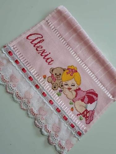 toalhas personalizadas feitas a mão.