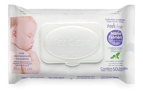 toalhas umidecidas feel clean nana nenen kit com 3 emb 50