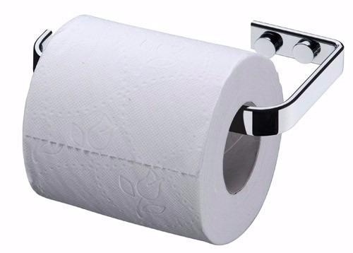 toalheiro 60cm duplo + suporte toalha rosto 30cm + papeleira