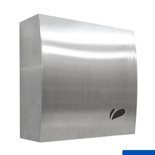 toalheiro dispenser aço inox escovado interfolhas biovisium